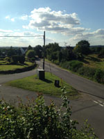Overlooking Shenton Lane from the churchyard